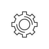 钝齿轮,齿轮线象,概述传染媒介标志 向量例证