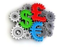 钝齿轮货币(包括的裁减路线) 免版税库存图片