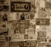 钞票做葡萄酒墙纸 库存图片