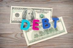 钞票和贷款字母表 库存照片