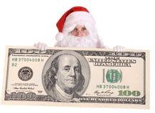 钞票大克劳斯美元圣诞老人 库存照片