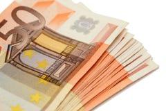钞票捆绑欧元 图库摄影
