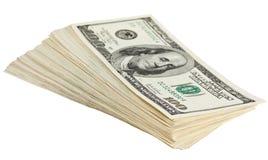 钞票捆绑美元 库存图片