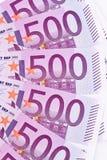 钞票接近的欧元 库存照片