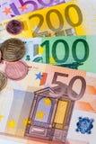 钞票概念性货币欧元五十五十 图库摄影