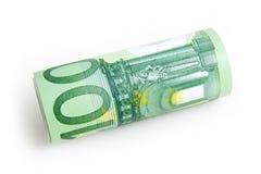 钞票欧元一百 免版税库存照片