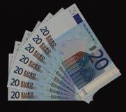 钞票欧元二十 免版税库存图片
