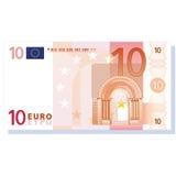 钞票欧元向量 免版税库存照片