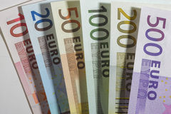 钞票欧元货币 免版税库存照片