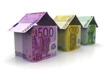 钞票欧元货币 库存图片