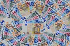 钞票欧元 库存图片