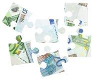 钞票欧洲部分难题 免版税库存图片