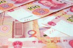 钞票汉语元 库存照片