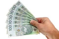 钞票波兰 免版税库存图片