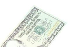 钞票特写镜头美元百万一个 免版税库存照片