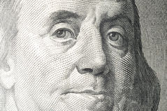 钞票的片段大USD 100 库存照片