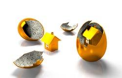 钞票的鸡蛋的议院 免版税图库摄影