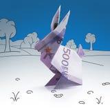 从钞票的Origami野兔 库存图片