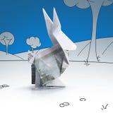 从钞票的Origami野兔 免版税库存照片