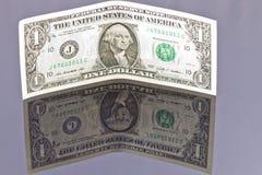 钞票美元一 库存照片