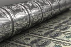 钞票美元打印我们 库存图片