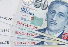 钞票美元新加坡 免版税库存照片