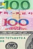 钞票美元欧元 免版税图库摄影