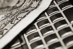 钞票美元 免版税库存照片