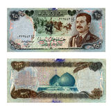 钞票老伊拉克 库存图片