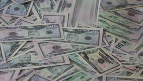 钞票背景和落 免版税库存照片