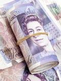 钞票英语货币 免版税图库摄影