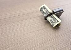 钞票详细资料美元一 免版税库存照片