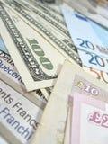 钞票货币世界 免版税库存图片