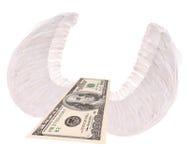 钞票飞行一百一个翼 免版税库存图片
