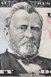 钞票黑色美元五十授予查出照片纵向s伊利亚斯我们空白 在一张二十美金的格兰特画象 免版税图库摄影