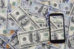 钞票$ 100,老和新 免版税库存照片