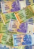 钞票-津巴布韦-恶性通货膨胀 免版税库存图片