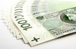 钞票100 PLN 免版税图库摄影