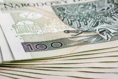 钞票100 PLN 库存图片
