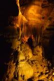 钟乳石和石笋在Christal洞 免版税库存图片