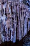 钟乳石石笋洞 库存图片