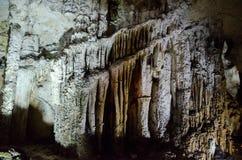 钟乳石 洞Emine Bair Khosar在克里米亚 免版税库存图片