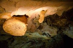 钟乳石 洞Emine Bair Khosar在克里米亚 库存图片
