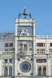 钟塔在威尼斯,意大利 库存照片