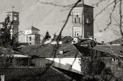 钟楼卢卡托斯卡纳意大利风景  免版税库存图片