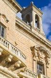 钟楼和宫殿阳台 库存照片