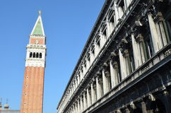钟楼圣Marco 免版税库存照片