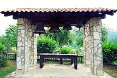 钟楼在庭院里,黑山 免版税库存照片