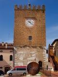 钟楼在梅斯特雷,威尼斯,意大利广域市  库存照片