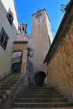 钟楼在老镇Omis 免版税库存图片